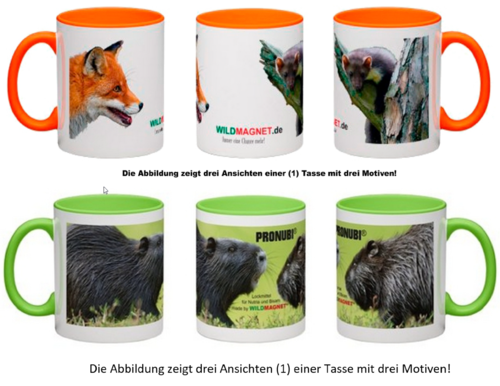 WILDMAGNET® und PRONUBI® Fan-Tassen-Set